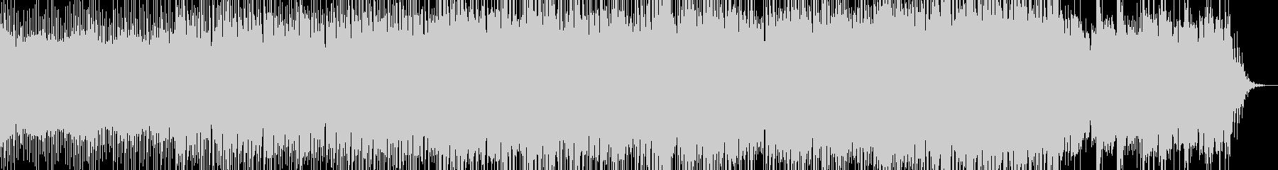 不思議で浮遊感のあるエレクトロサウンドの未再生の波形