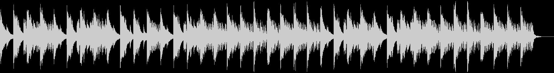 メロディとコードのシンプルなピアノ1の未再生の波形