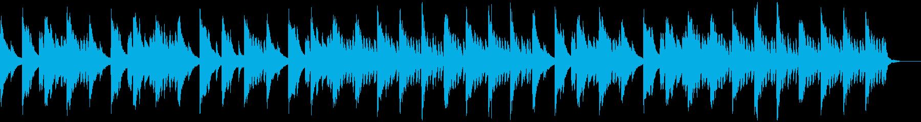 メロディとコードのシンプルなピアノ1の再生済みの波形