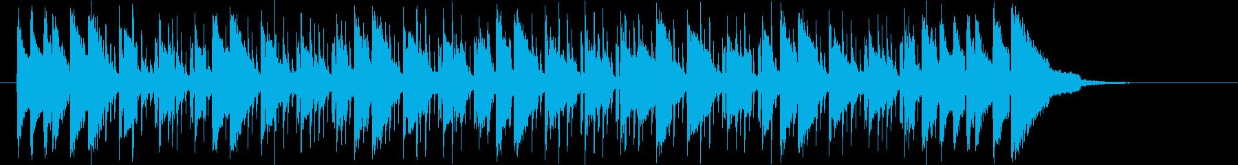 ベースが心地よい華やかなシンセの曲の再生済みの波形