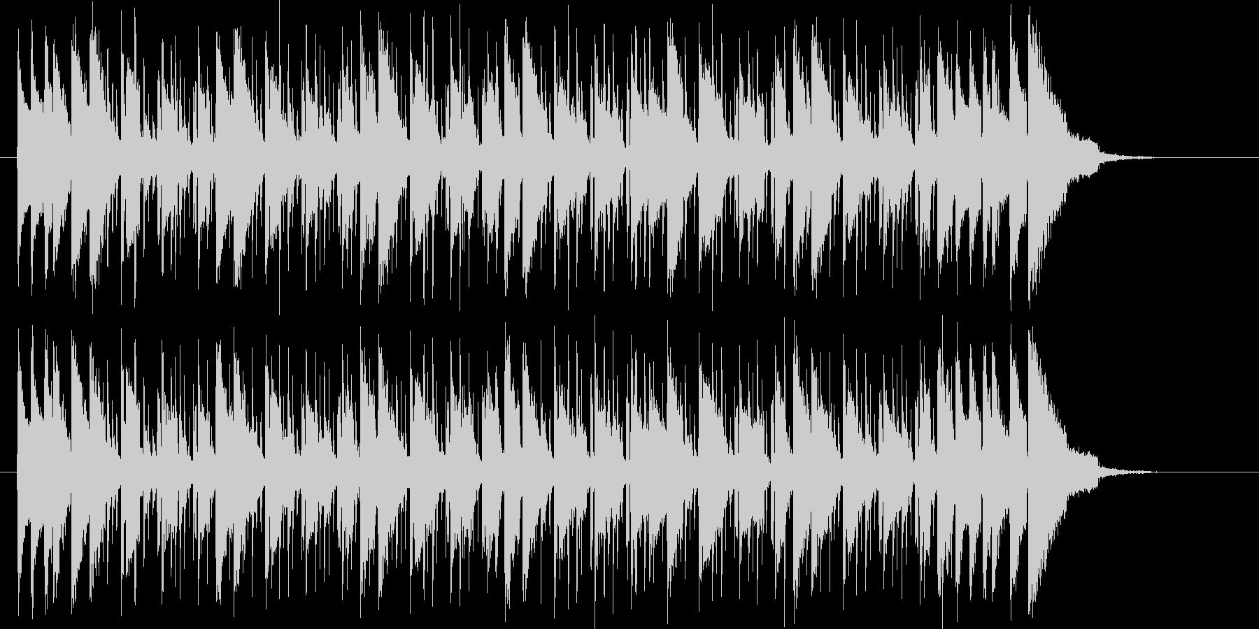 ベースが心地よい華やかなシンセの曲の未再生の波形
