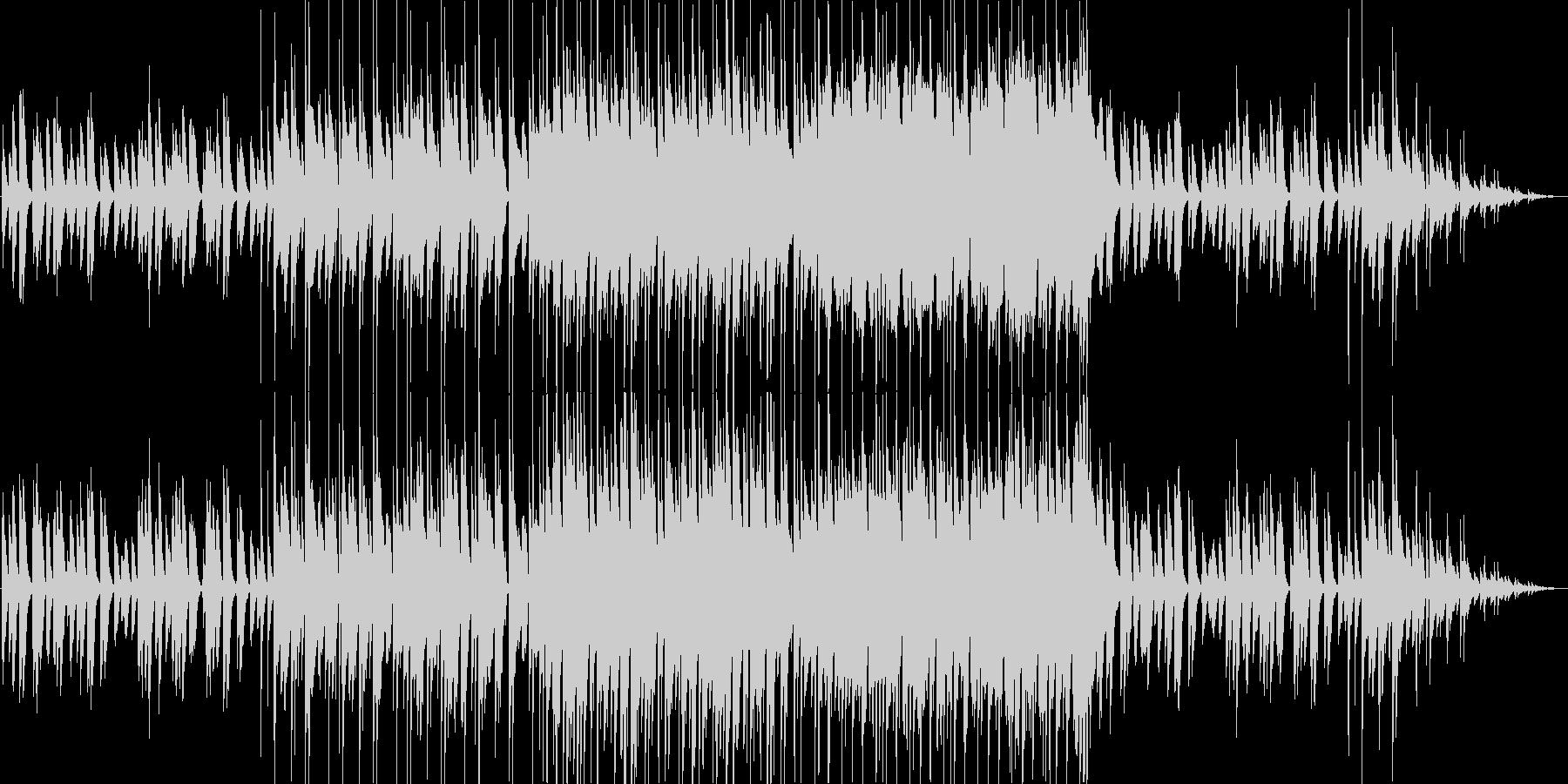 ピアノメインの軽快な朝の曲。ループ有の未再生の波形