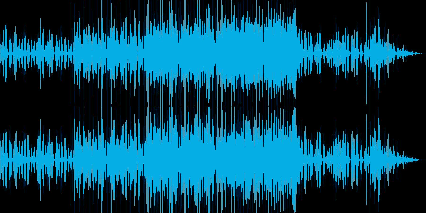 ピアノメインの軽快な朝の曲。ループ有の再生済みの波形