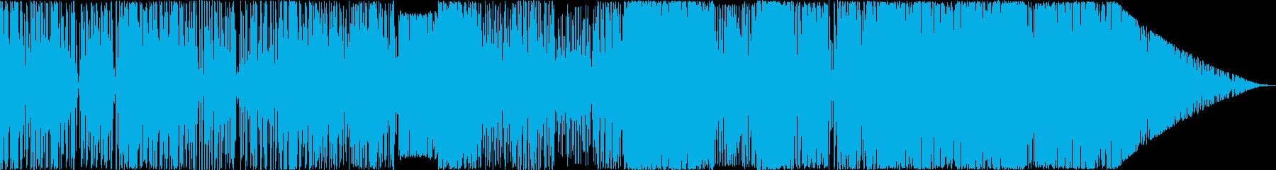 緊張感を煽るトランス風BGMの再生済みの波形