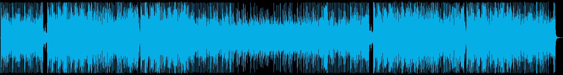 琴と尺八があやなす和風の格闘曲の再生済みの波形