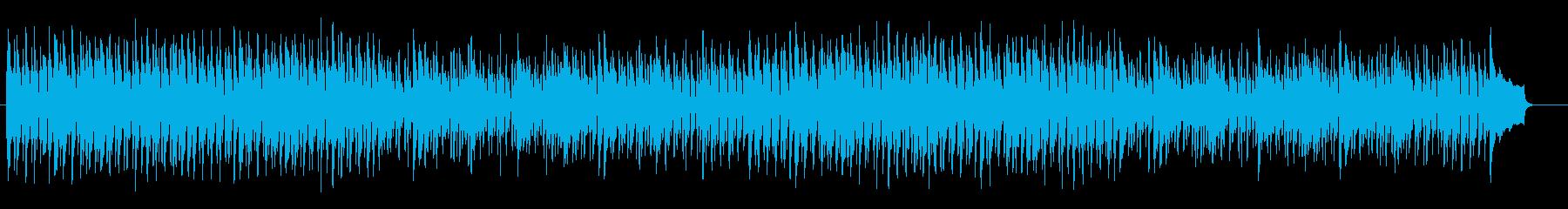 激しいストリングスが特徴のポップスの再生済みの波形