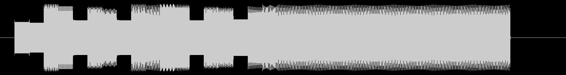 ポップな8bitジングルの未再生の波形