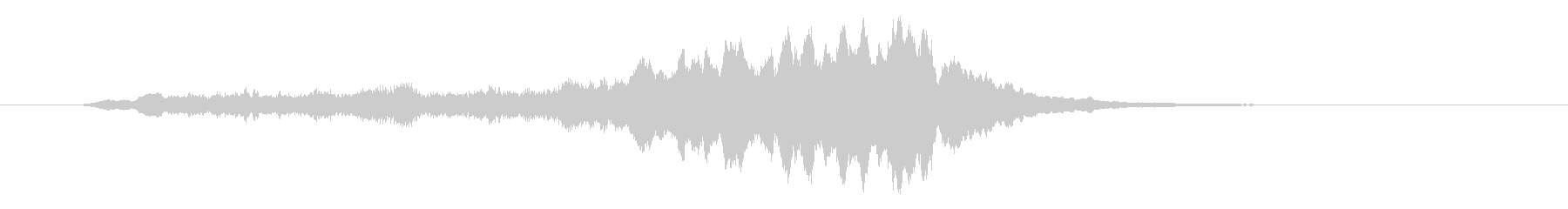 ストリングによる深みのあるサウンドロゴの未再生の波形