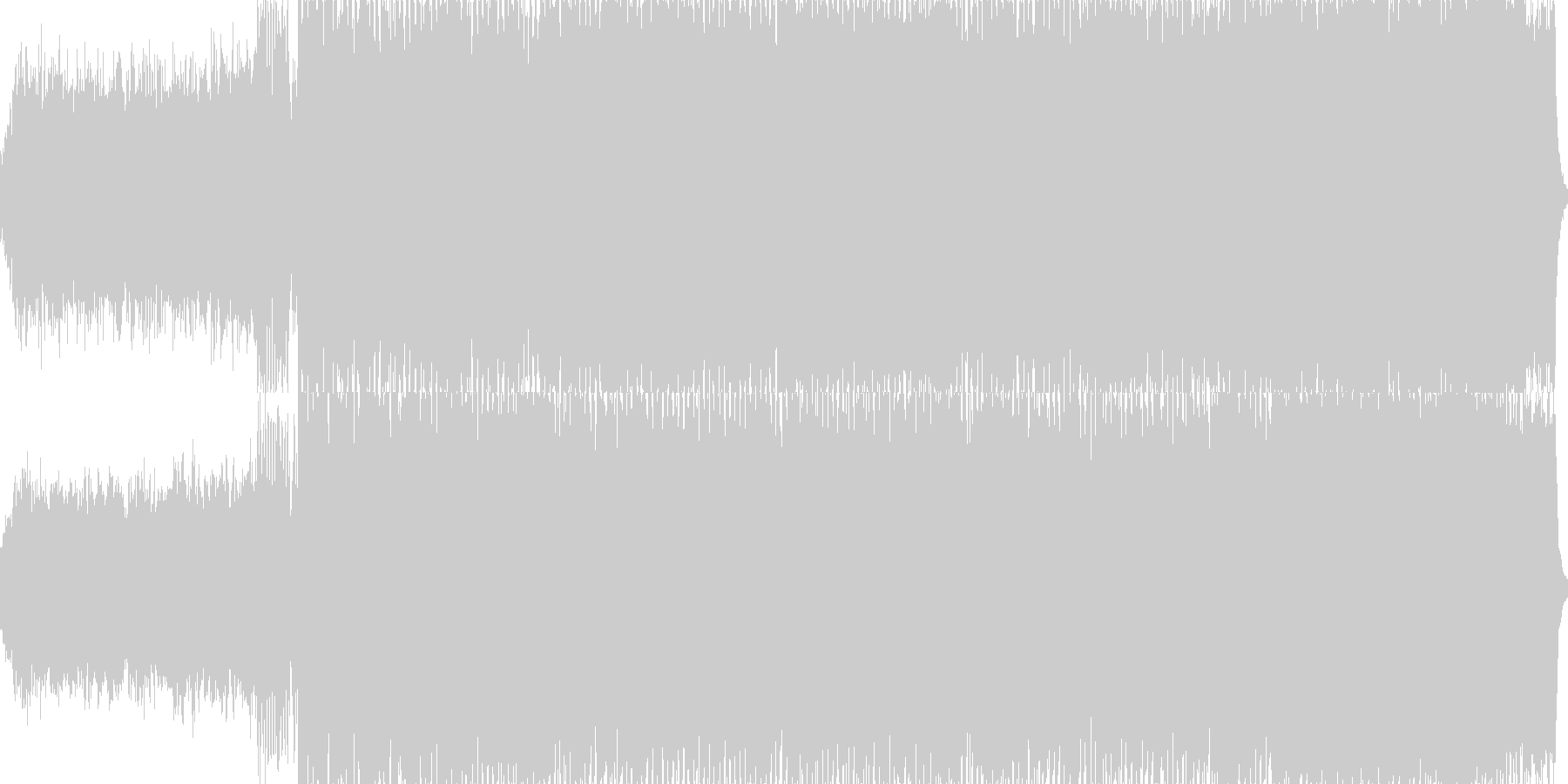 ジュピター/テクノアレンジの未再生の波形