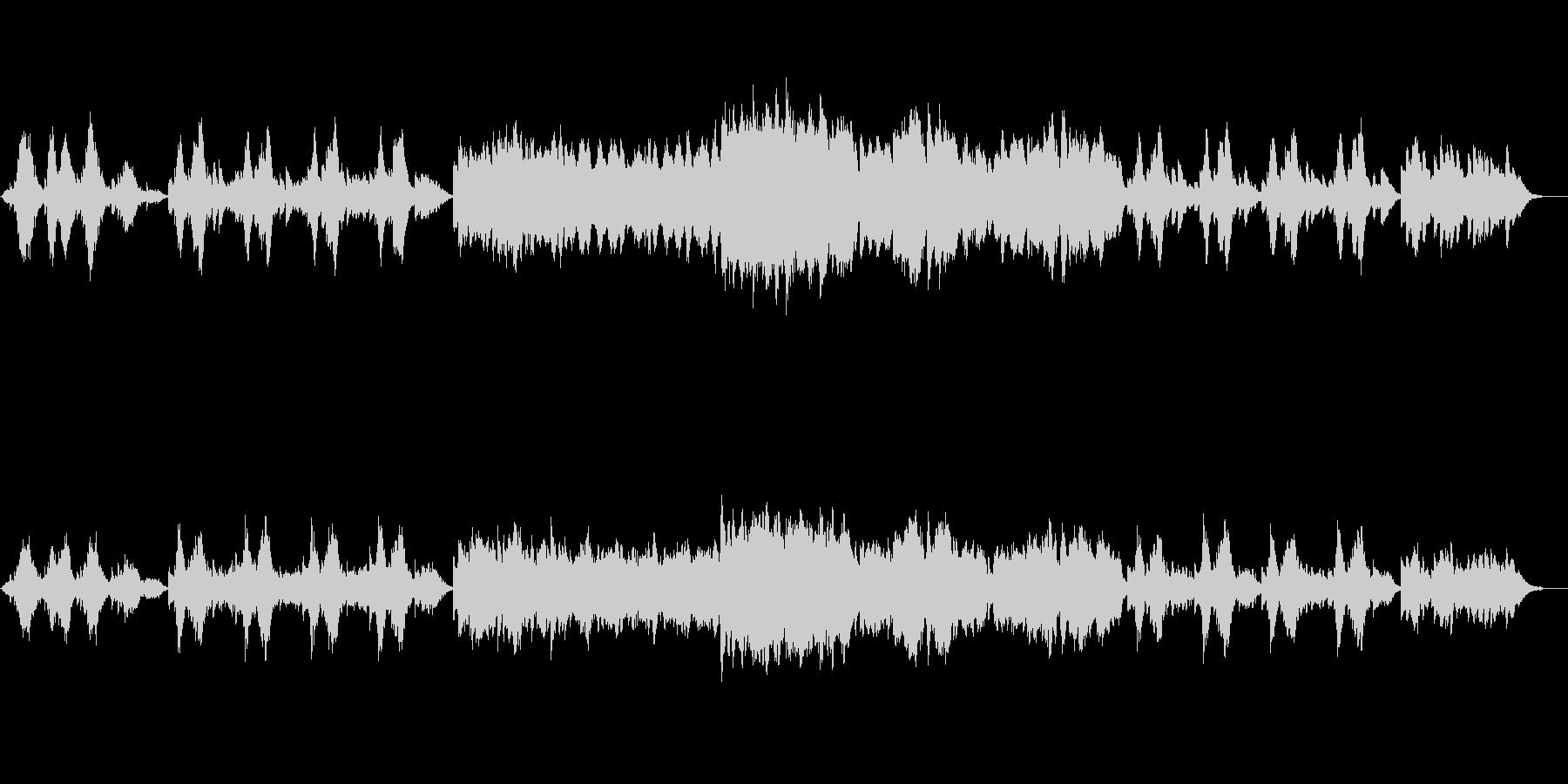 流れるピアノの旋律が印象的なインストの未再生の波形