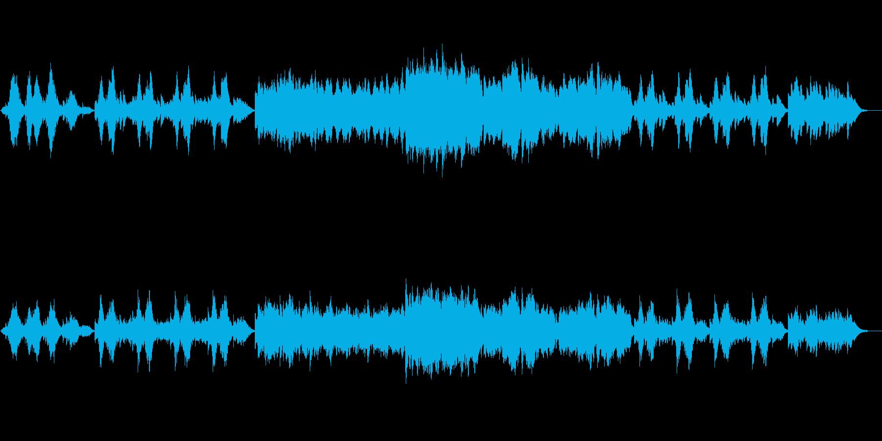 流れるピアノの旋律が印象的なインストの再生済みの波形