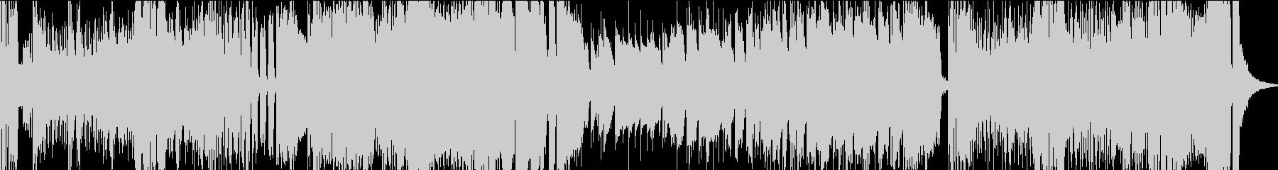 ドタバタでコミカルな行進曲の未再生の波形