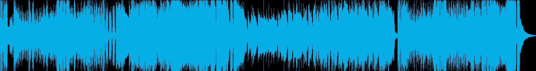 ドタバタでコミカルな行進曲の再生済みの波形