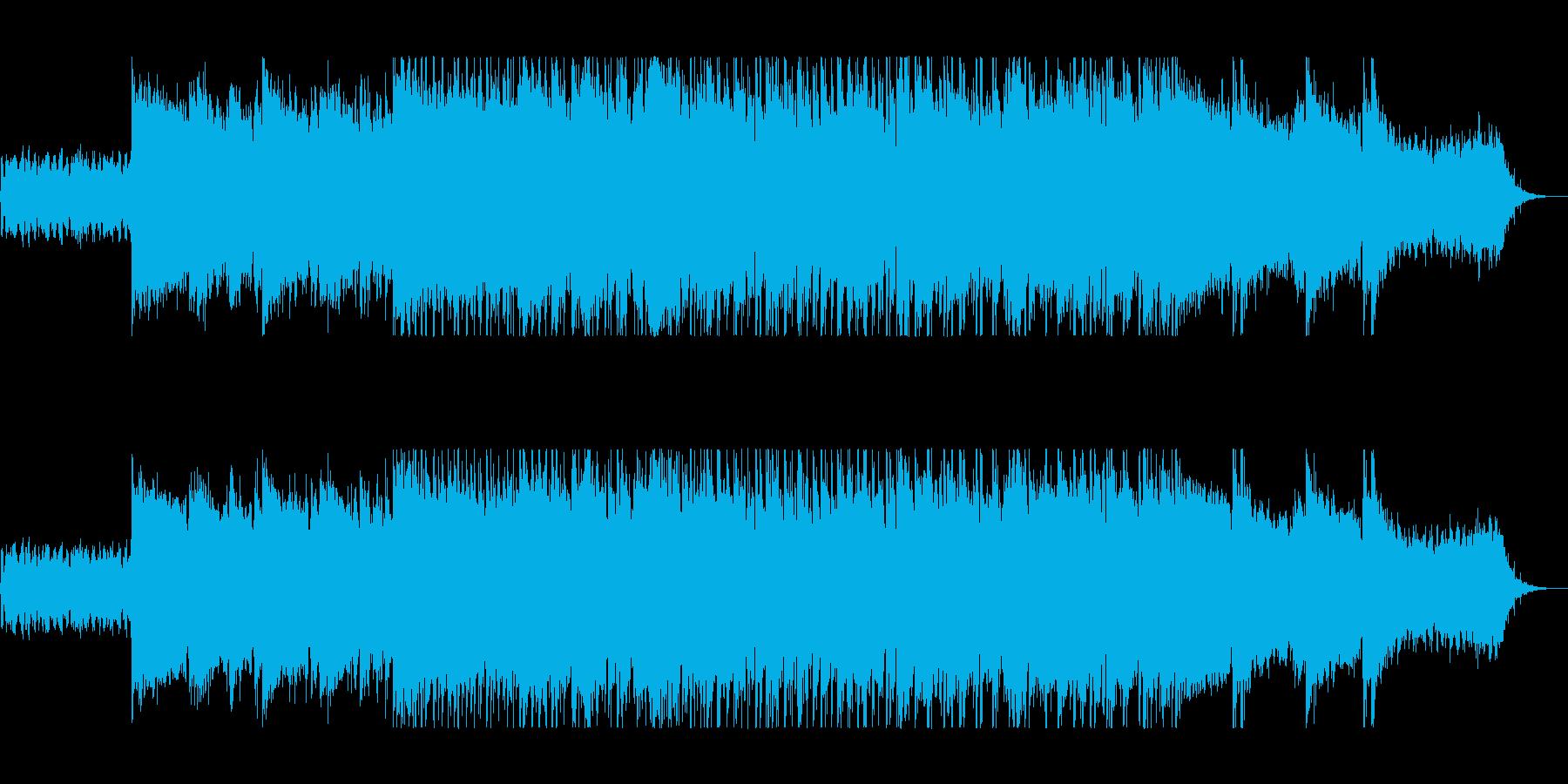 クールなギターメロディのロックの再生済みの波形