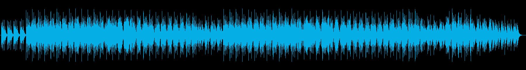 シンセサイザーとトランペットの曲の再生済みの波形