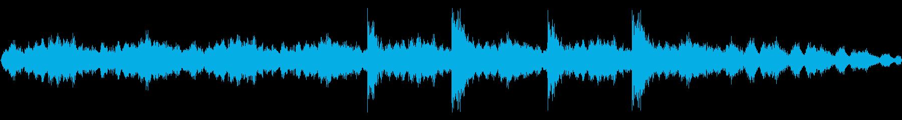 【緊張、緊迫、焦燥】ループBGMの再生済みの波形