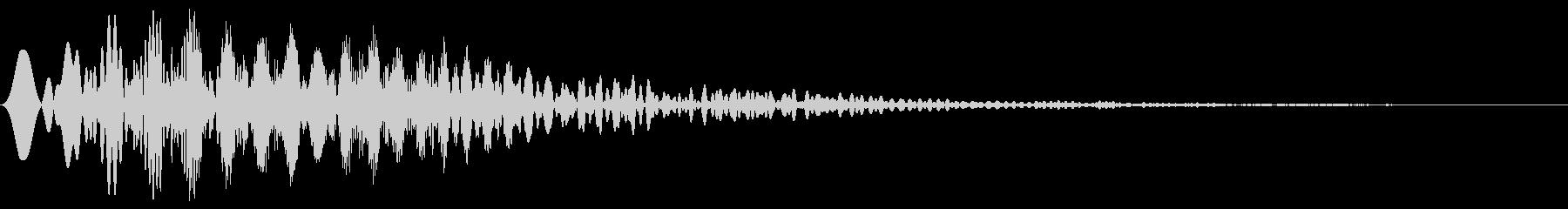 カーソル・決定・キャンセル音 「ピュイ」の未再生の波形