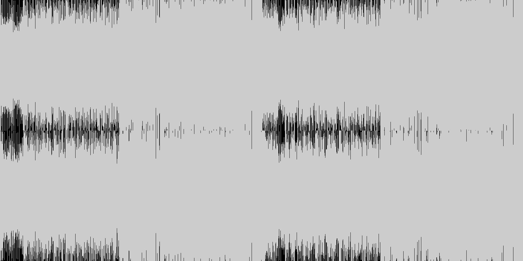 夏のトロピカルなイメージのBGM_ループの未再生の波形