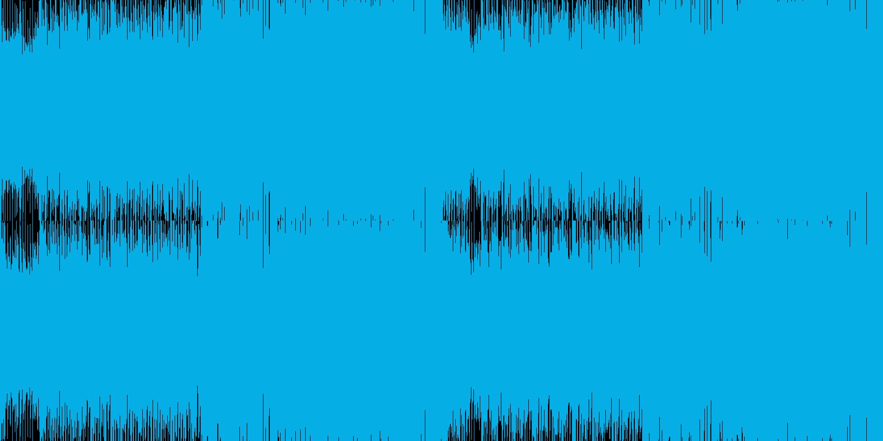 夏のトロピカルなイメージのBGM_ループの再生済みの波形