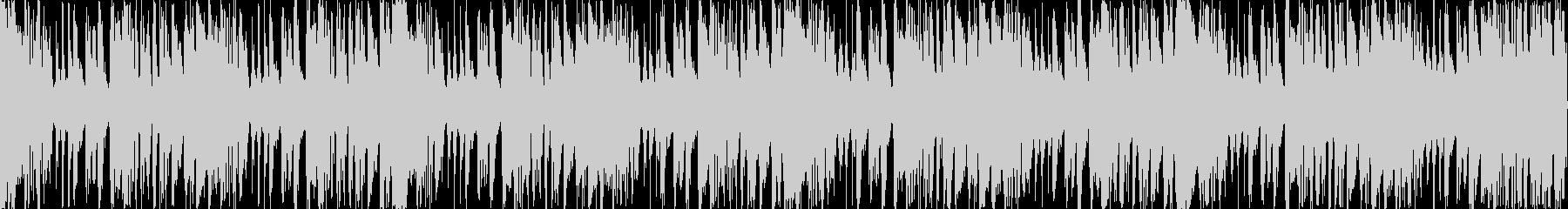 ループ素材を使用したサウンドに、後半メ…の未再生の波形