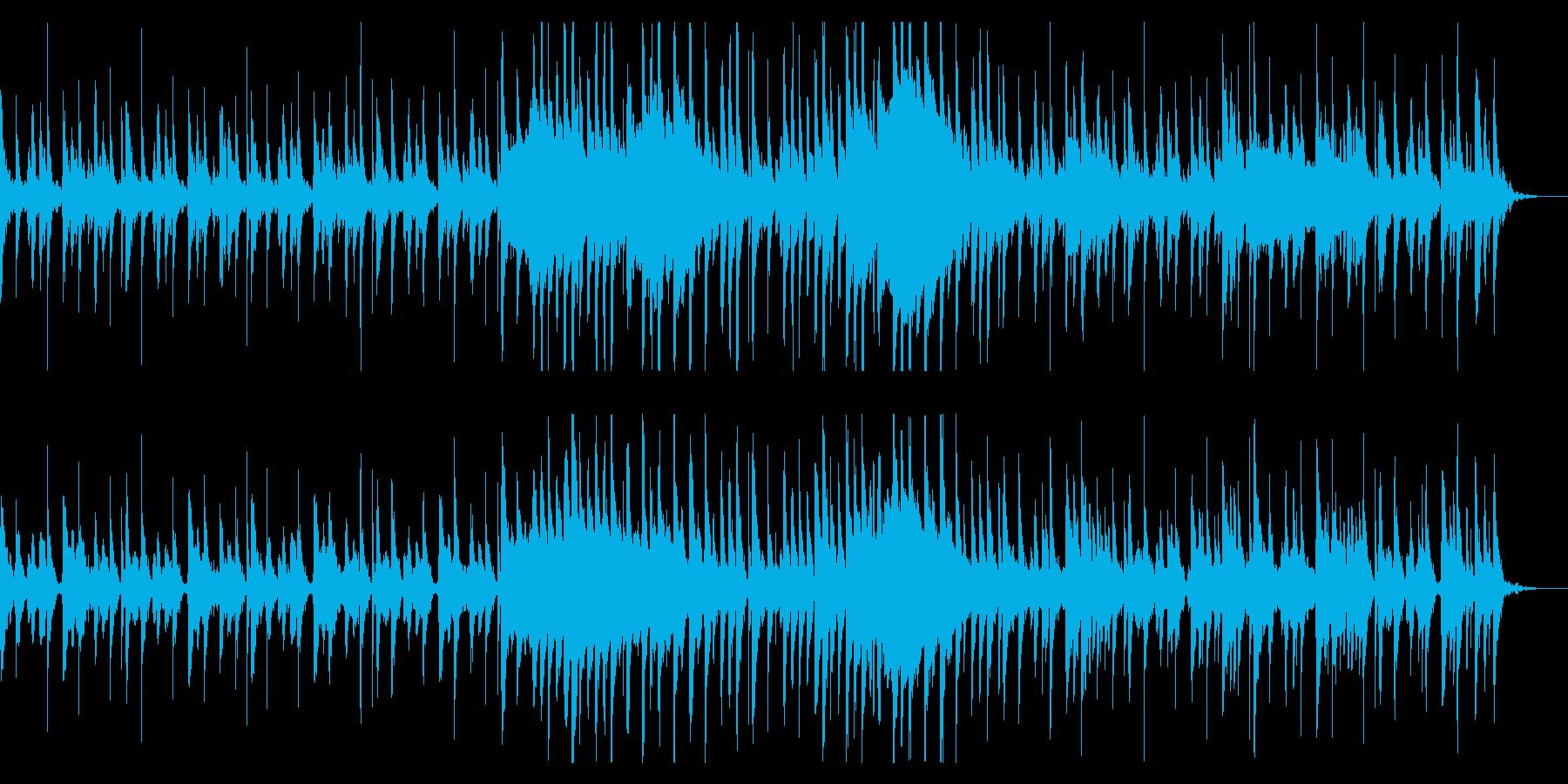 昔話で使われるようなのんきな和風BGMの再生済みの波形