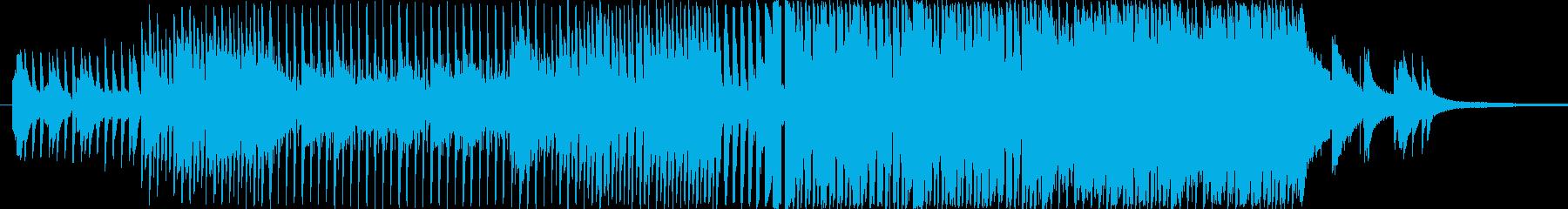 前向きで明るめのピアノインスト映像用の再生済みの波形
