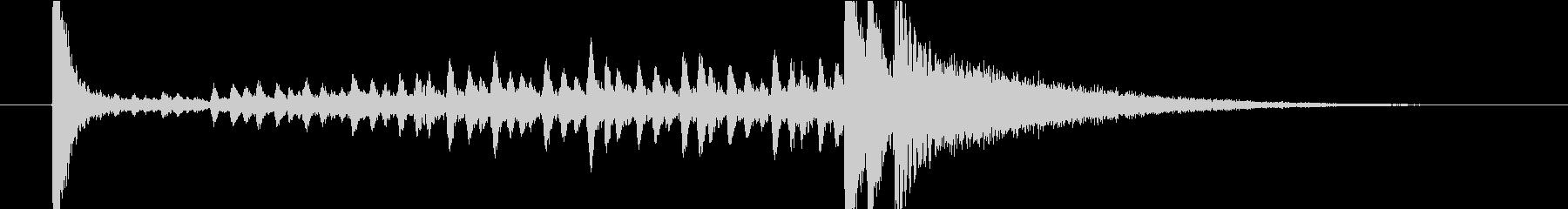 4秒・ドラムロール(タカタカ→シャーン)の未再生の波形