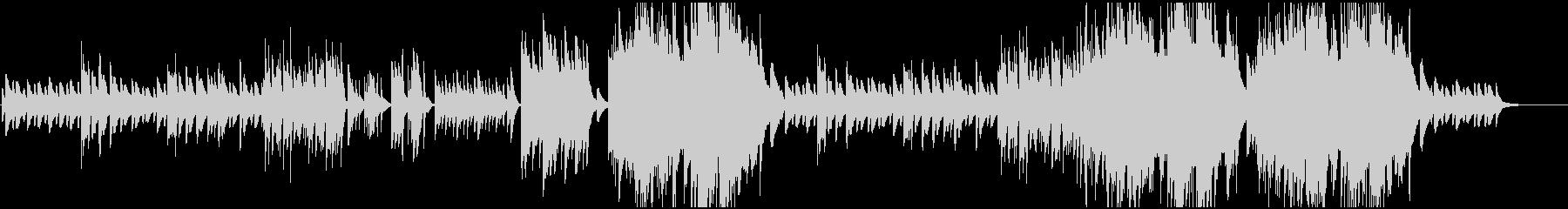 ピアノBGM シンプルな透明感の未再生の波形