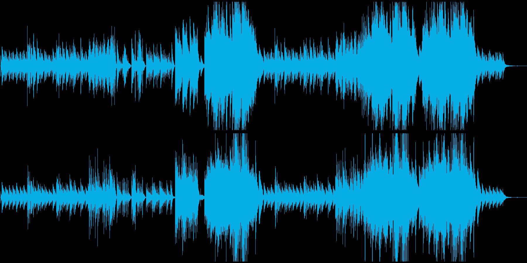 ピアノBGM シンプルな透明感の再生済みの波形
