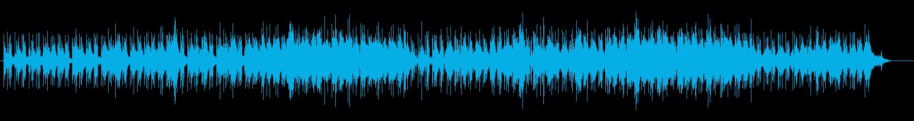 ピアノ・ソロにポイントを置いた曲の再生済みの波形