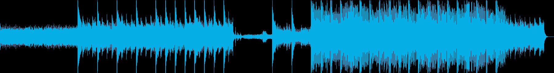 ミステリアスで神秘的なBGMの再生済みの波形