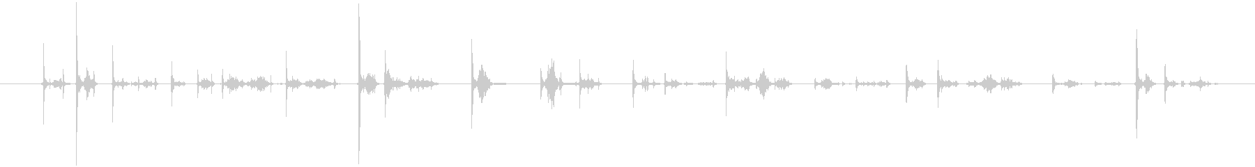 カーカー(ボールペンで書く音)Bの未再生の波形