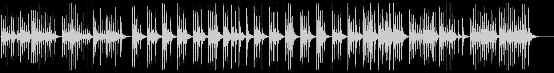 かわいらしく弾むピアノ曲の未再生の波形