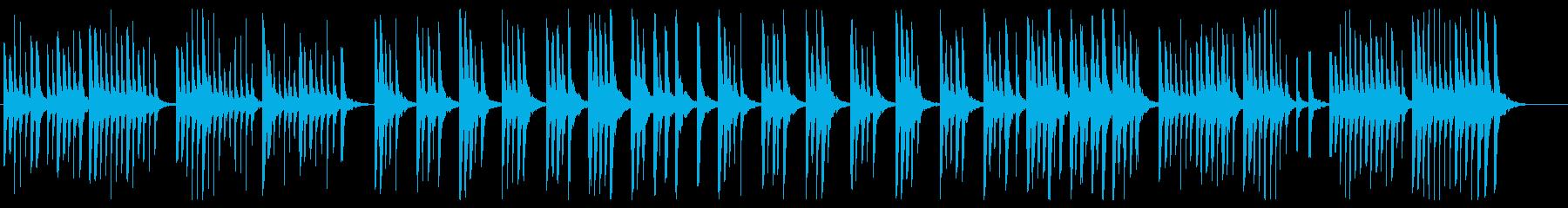 かわいらしく弾むピアノ曲の再生済みの波形
