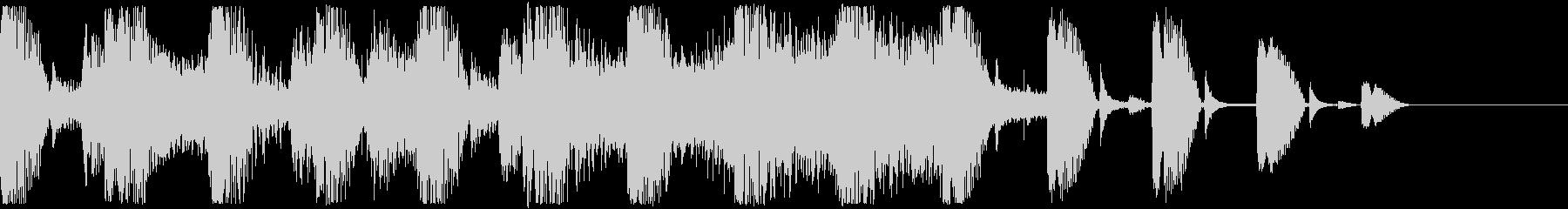 ストリングス ピッチカート サウンドロゴの未再生の波形