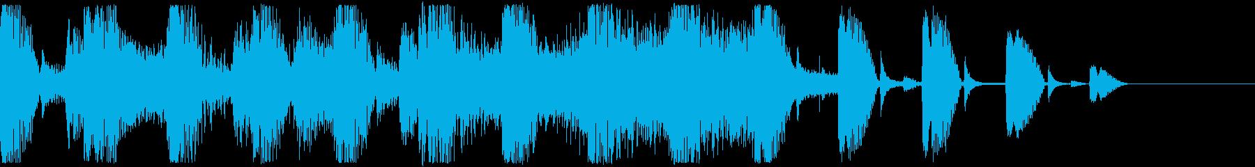 ストリングス ピッチカート サウンドロゴの再生済みの波形