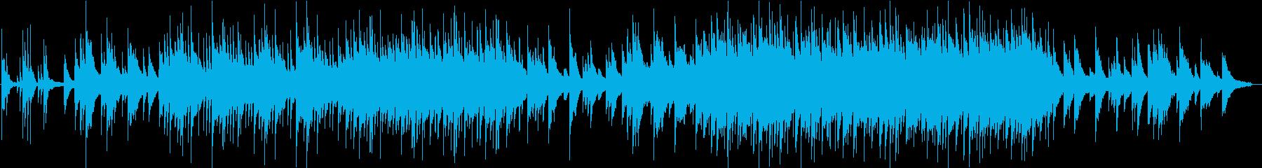 揚琴とピアノのしっとりした楽曲の再生済みの波形