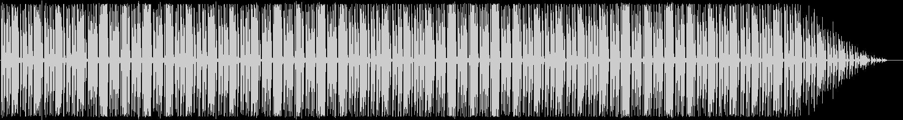 コミカルなメロディとリズムのBGMの未再生の波形