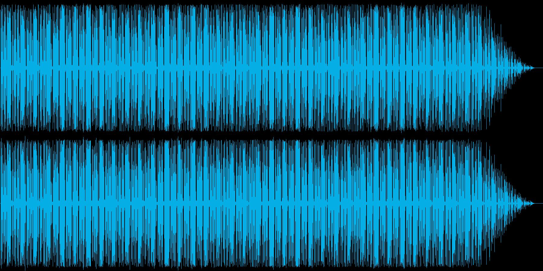 コミカルなメロディとリズムのBGMの再生済みの波形