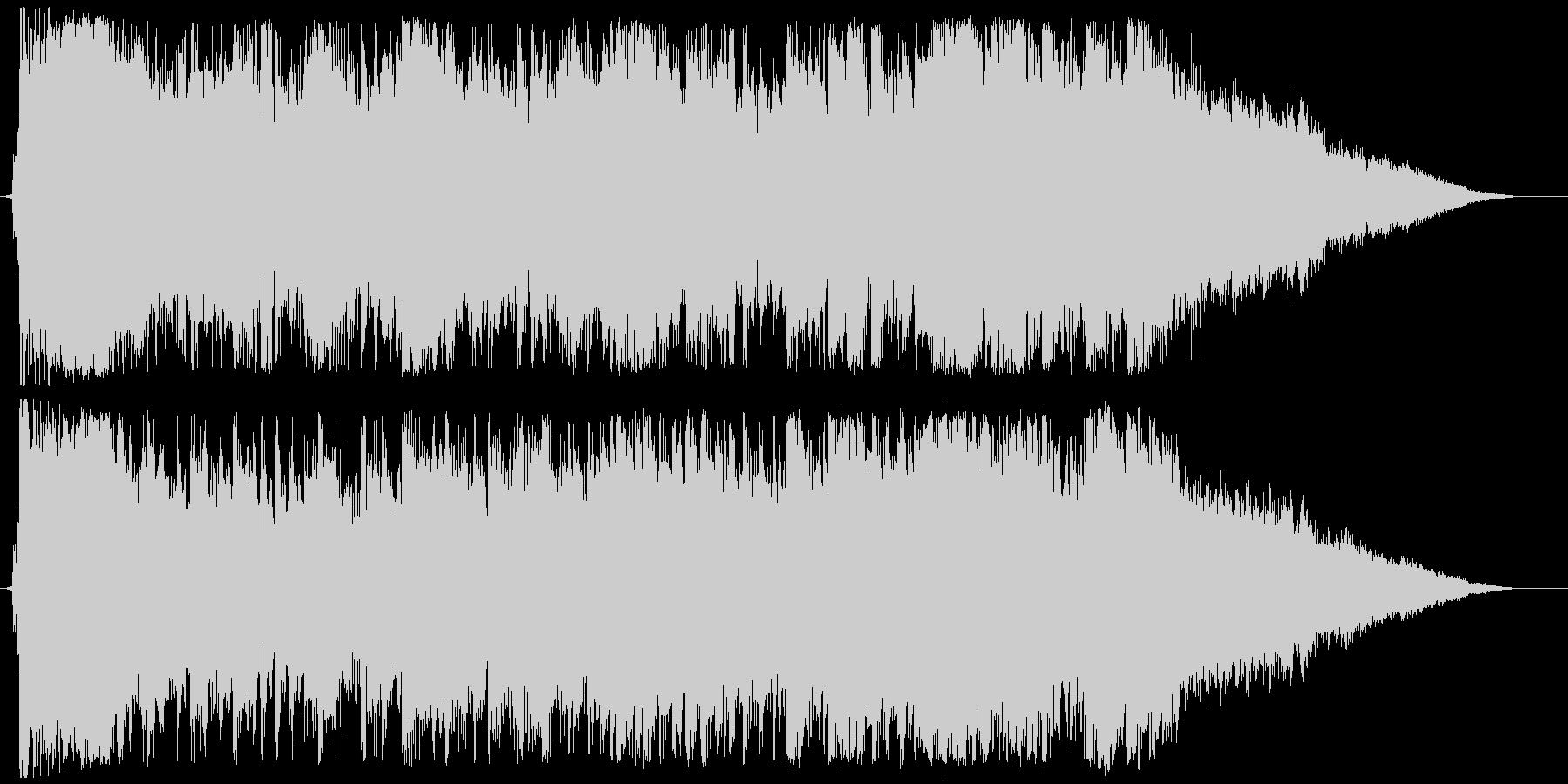ディズニー風ワルツの豪華なエンディングの未再生の波形