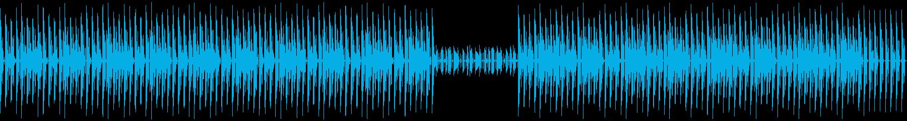 軽快なリズムでノリの良いBGM(ループ可の再生済みの波形
