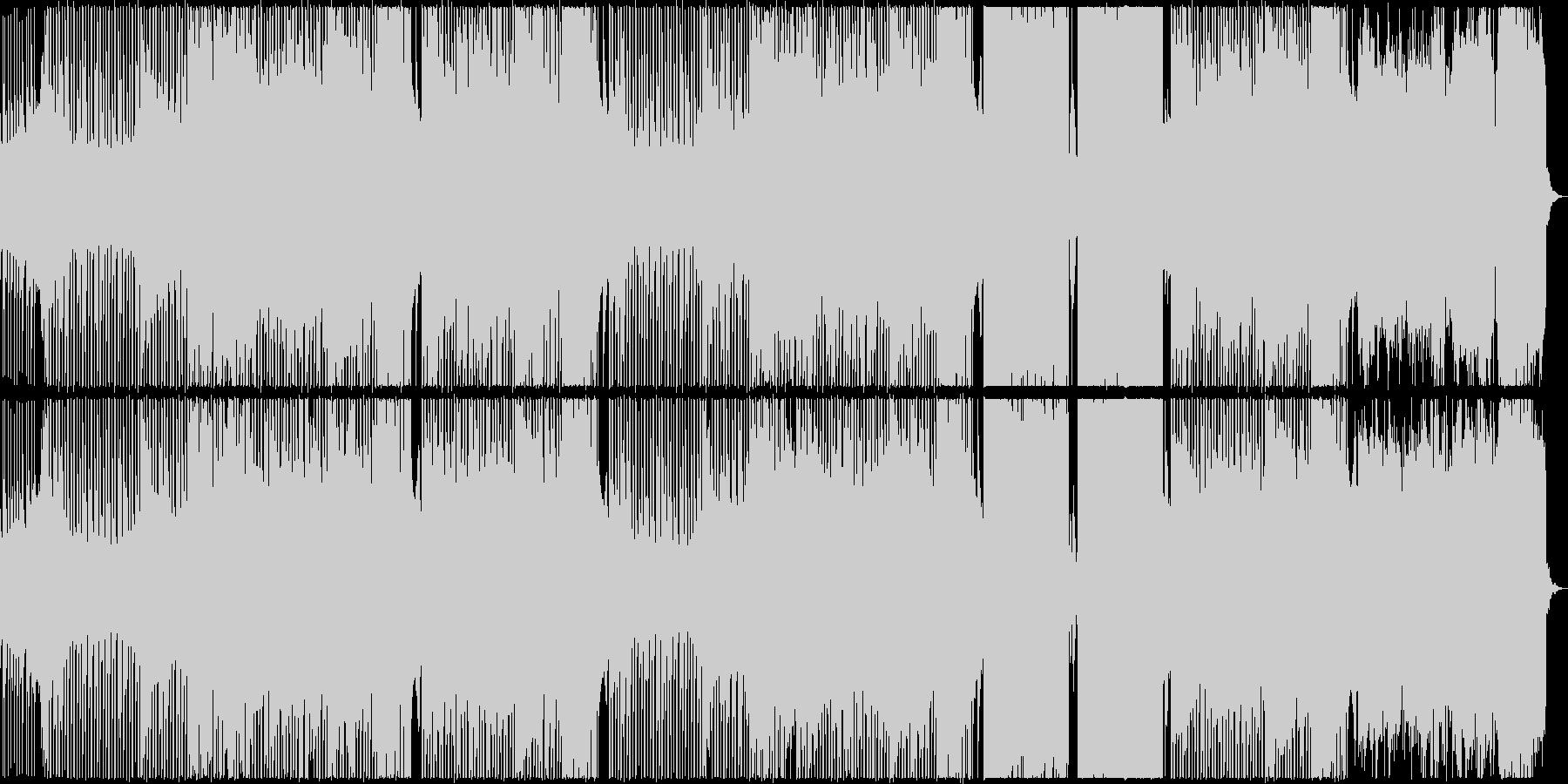 機械的でロボティックなノリの良いテクノの未再生の波形