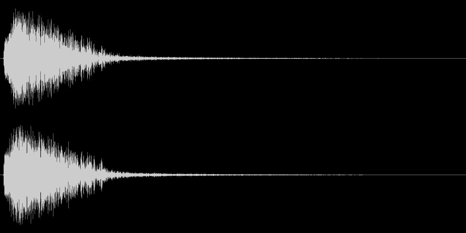 注意を引くインパクトのある音#3の未再生の波形