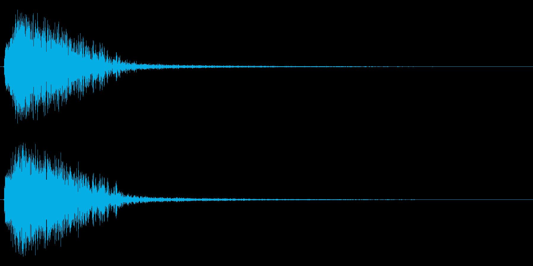 注意を引くインパクトのある音#3の再生済みの波形