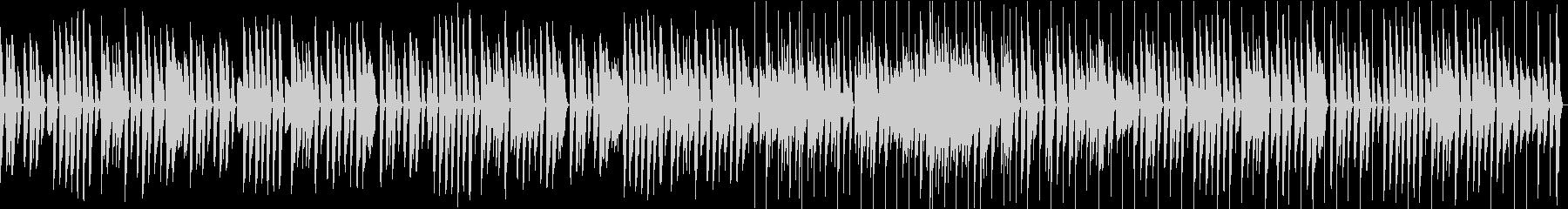 脱力・アコースティックピアノのコミカル曲の未再生の波形
