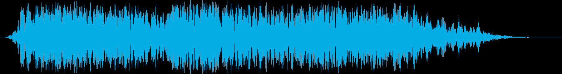 宇宙プラズマ爆発:トレーラーの再生済みの波形