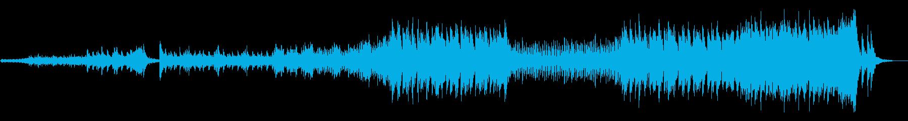 ドラマチックなストリングスと打楽器の再生済みの波形