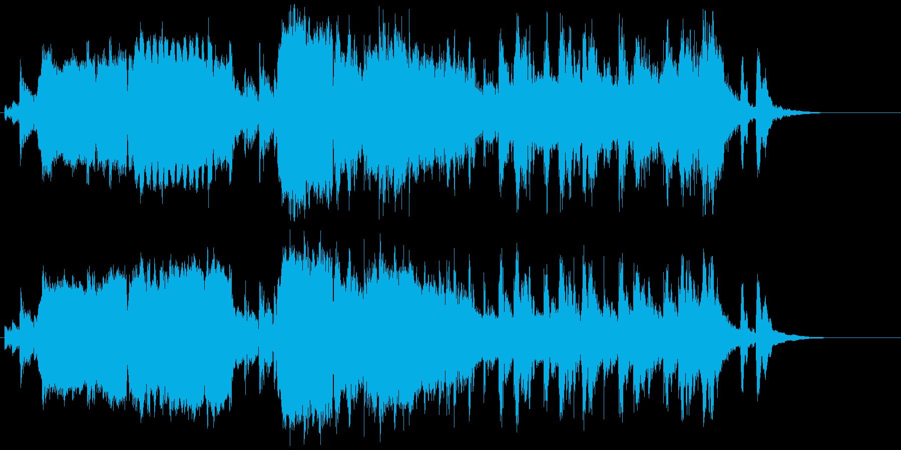 和風迫力ジングル 尺八現代的壮大パワフルの再生済みの波形