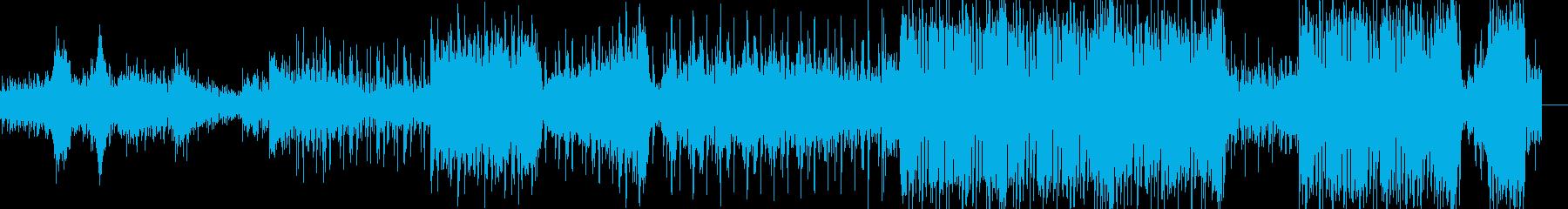ノリやすいエレクトロなインスト曲の再生済みの波形