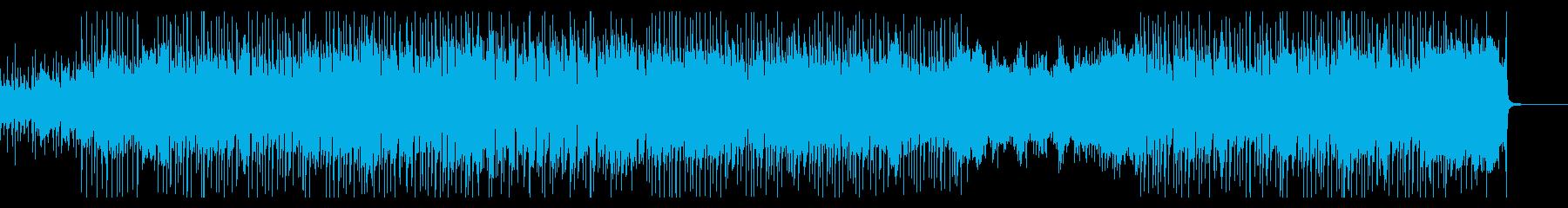 爽やかなピアノとオルガンのロックの再生済みの波形